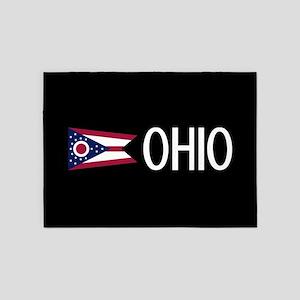 Ohio: Ohioan Flag & Ohio 5'x7'Area Rug