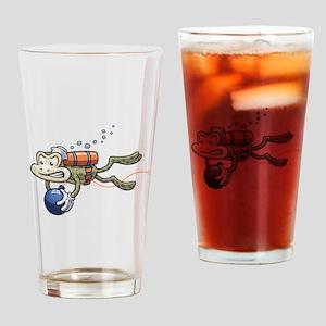 Frogman Drinking Glass