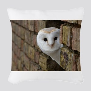 Peek-a-Boo Owl Woven Throw Pillow
