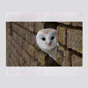 Peek-a-Boo Owl Throw Blanket