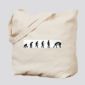Evolution of Wrestling Tote Bag