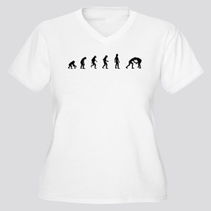 Evolution of Wrestling Women's Plus Size V-Neck T-