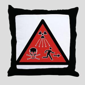 Radiation Hazard Throw Pillow