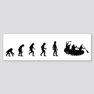 Evolution of White Water Raft Bumper Sticker