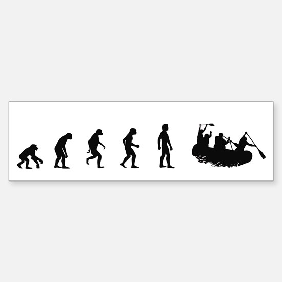 Evolution of White Water Raft Bumper Bumper Bumper Sticker