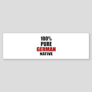 100 % Pure German Native Sticker (Bumper)