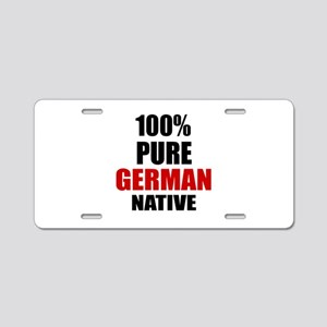 100 % Pure German Native Aluminum License Plate