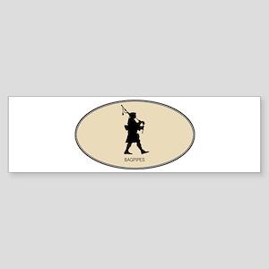 Bagpipes (euro-brown) Bumper Sticker