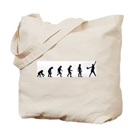 Evolution of Softball Tote Bag