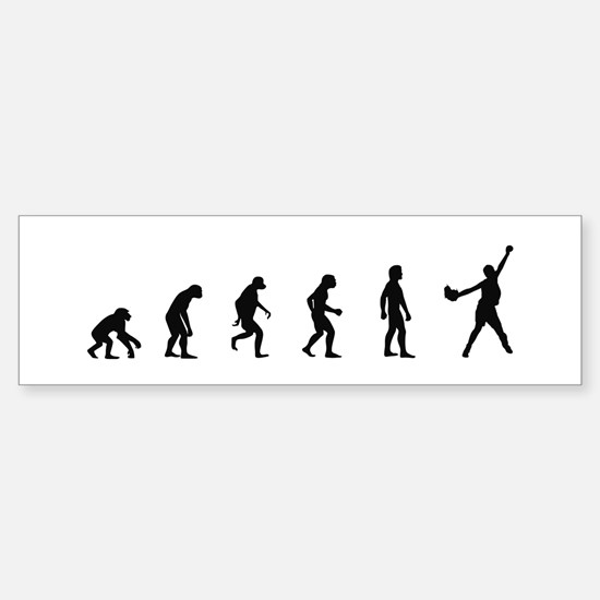 Evolution of Softball Bumper Bumper Bumper Sticker