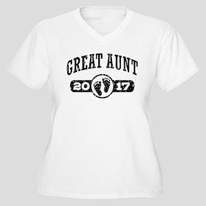 Great Aunt 2017 Women's Plus Size V-Neck T-Shirt