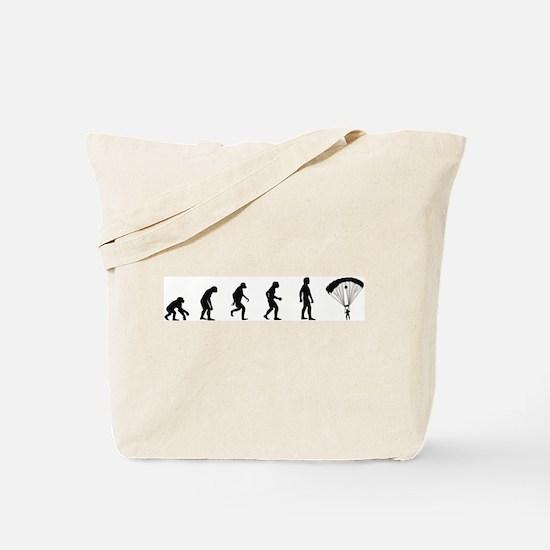 Evolution of Skydiving Tote Bag