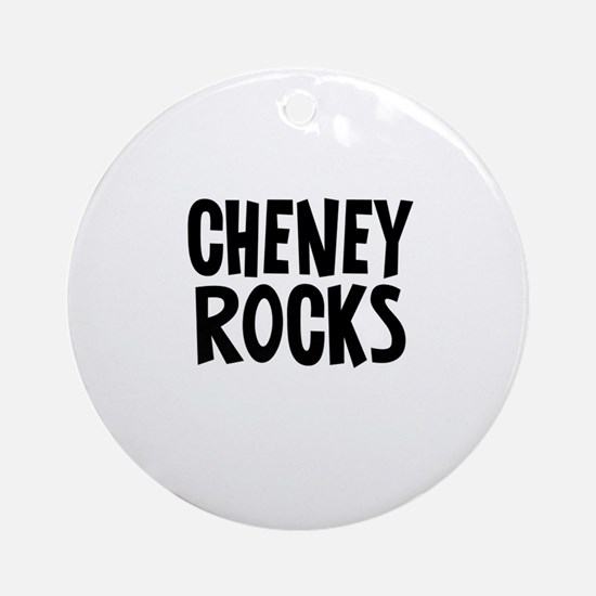 Cheney Rocks Ornament (Round)