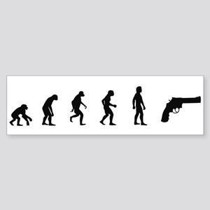 Evolution of Shoot Guns Bumper Sticker