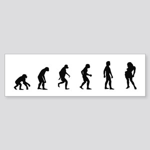 Evolution of Party Girl Bumper Sticker