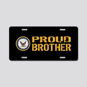 U.S. Navy: Proud Brother (B Aluminum License Plate