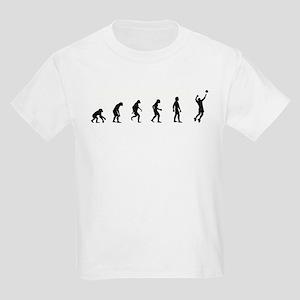 Evolution of Mens Volleyball Kids Light T-Shirt