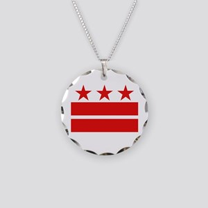 3 Stars and 2 Bars Necklace Circle Charm