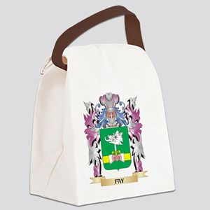 Fay Coat of Arms (Family Crest) Canvas Lunch Bag