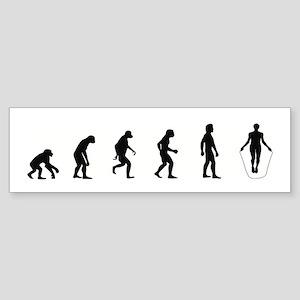 Evolution of Jump Rope Bumper Sticker