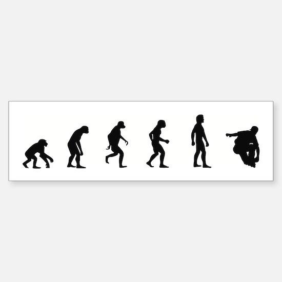 Evolution of Inline Skating Bumper Bumper Bumper Sticker