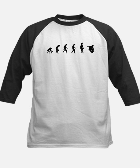 Evolution of Inline Skating Kids Baseball Jersey
