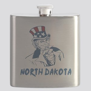 North Dakota State Designs Flask