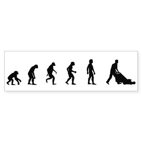 Evolution of Garden Bumper Sticker