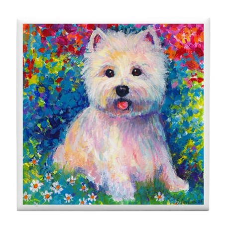 West Higland terrier 2 Tile Coaster