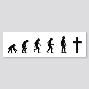 Evolution of Christianity Bumper Sticker