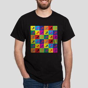Pop Art Skiing Dark T-Shirt