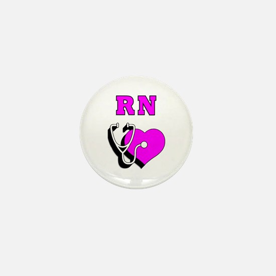 RN Nurses Care Mini Button