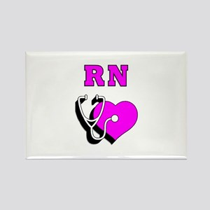 RN Nurses Care Rectangle Magnet