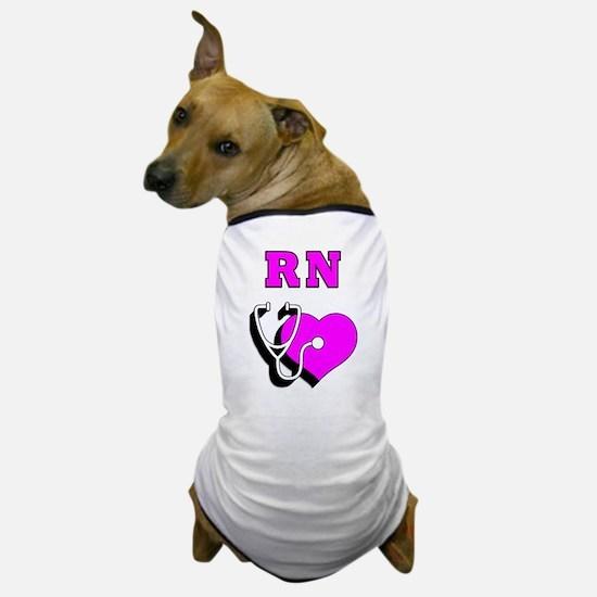 RN Nurses Care Dog T-Shirt