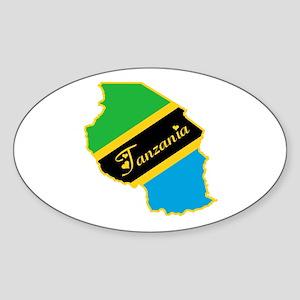 Cool Tanzania Oval Sticker