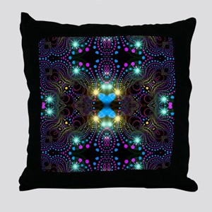 Bohemian Blacklight Throw Pillow