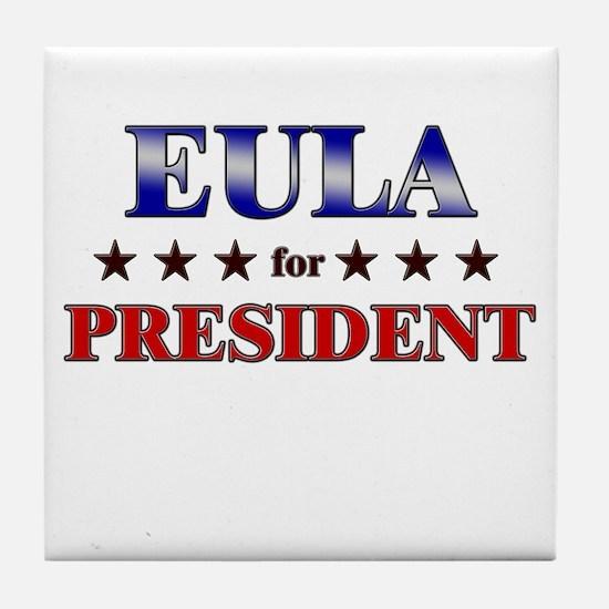 EULA for president Tile Coaster