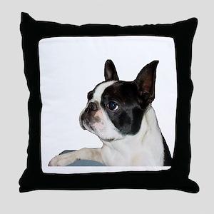 Boston Terrier - Pleading Eye Throw Pillow