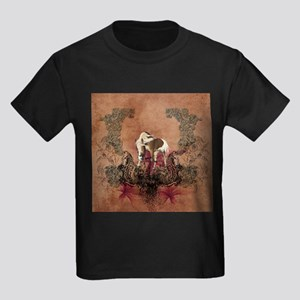 Wonderful horse with flowers T-Shirt
