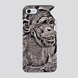 Rustic Style -young chimpanz iPhone 8/7 Tough Case