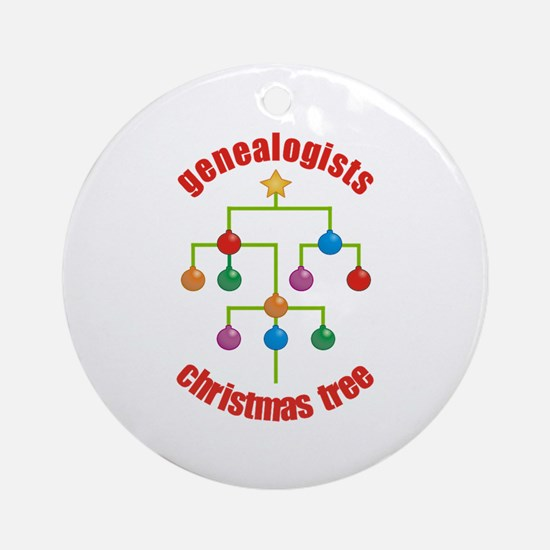 Genealogists Christmas Tree Ornament (Round)