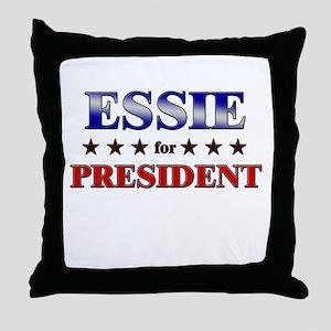 ESSIE for president Throw Pillow