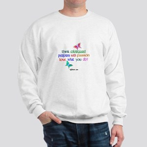 Think Colorguard Butterflies Sweatshirt