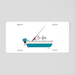 Go Fish Aluminum License Plate