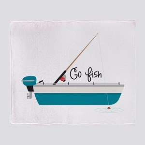 Go Fish Throw Blanket