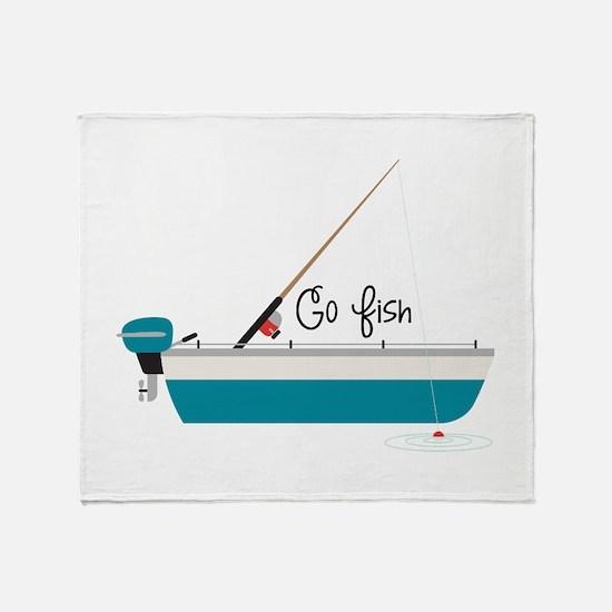 Go Fish Throw Blanket
