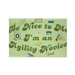 Agility Novice Rectangle Magnet (10 pack)