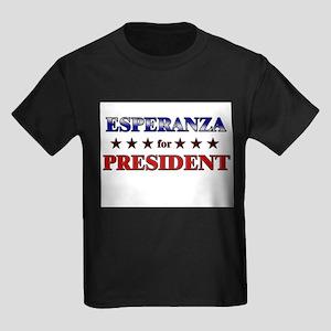 ESPERANZA for president Kids Dark T-Shirt