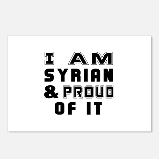 I Am Syrian And Proud Of Postcards (Package of 8)