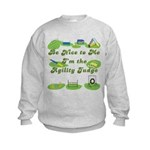 Agility Judge Kids Sweatshirt